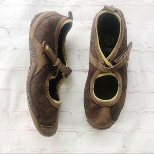 [Merrell] circuit MJ brown print Mary Jane sandal